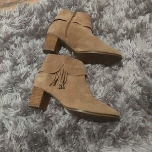 Matisse tan leather fringe boot